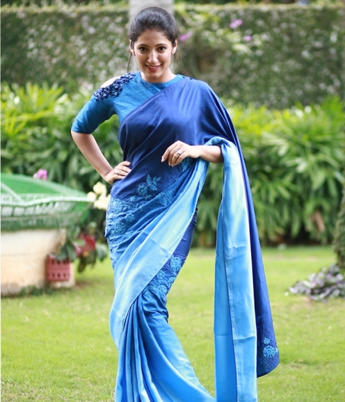 Ocean Blue Saree