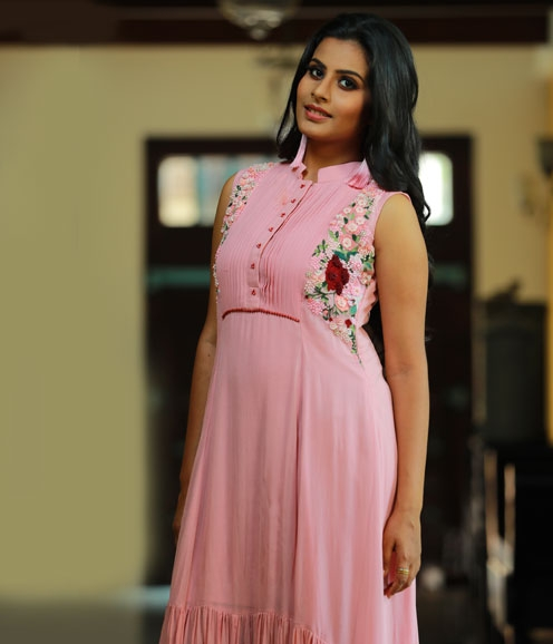 Pink Ombre Assymetrical Dress
