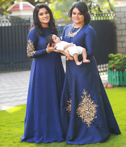 Royal Blue Gowns with Zardosi Highlights