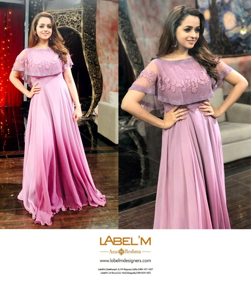 Bhavana in Lavender Cape Gown