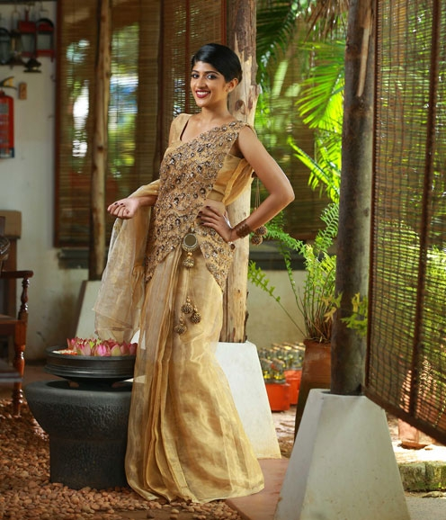 Gold Sequin Cluster Dhawani