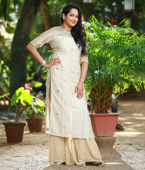 Offwhite Sequins embellished kurthi