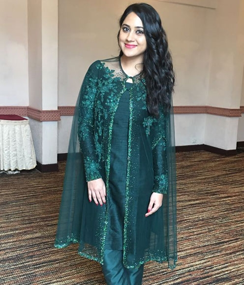 Mia in Green Cape Salwar
