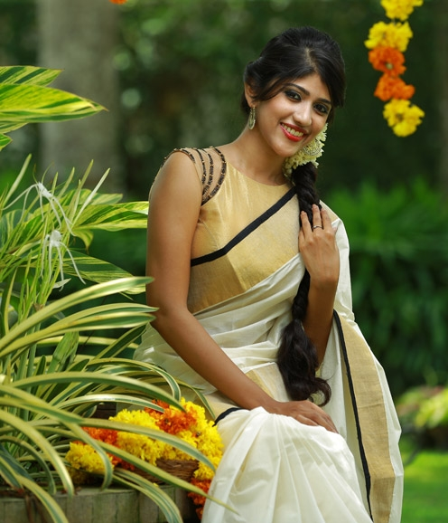 Black And Gold Blouse Saree
