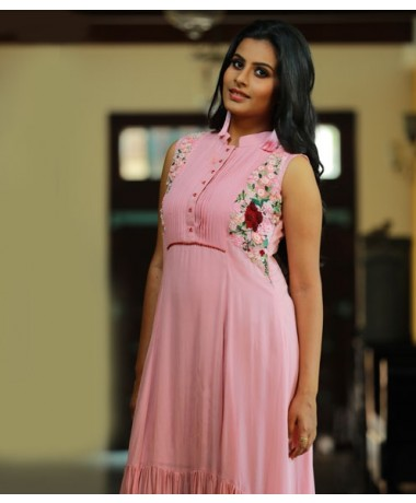 Pink Ombre Assymetrical Dress