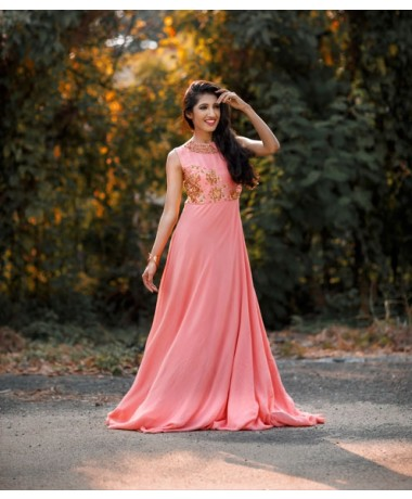 Pearl Sequined Gown