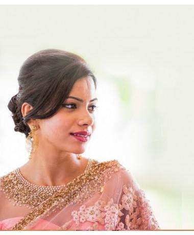 Baby Pink Fully Handworked Bridal Saree