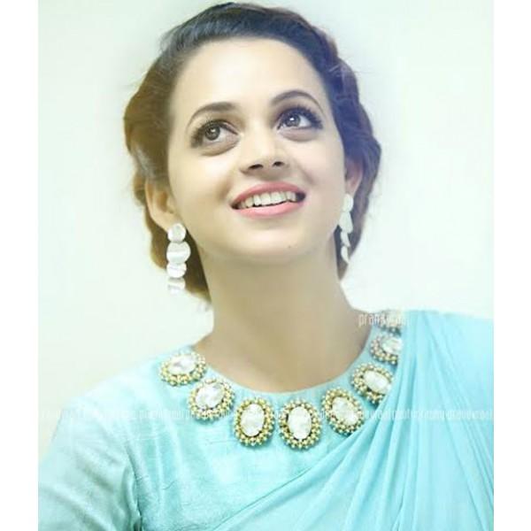 Bhavana in pastel mint blue saree altavistaventures Gallery